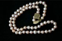 6mm PINK ROUND CULTURED FRESHWATER PEARL NECKLACE - £50